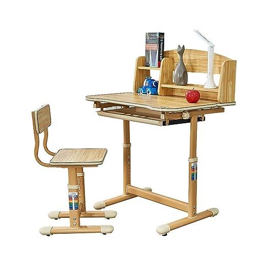 Escritorio para Niños Mesa giratoria y silla Mesa de estudio para ...