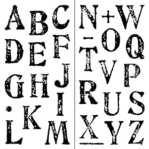 Inkadinkado artstamp large alphabet clear for Alphabet number rolling decoration stamp
