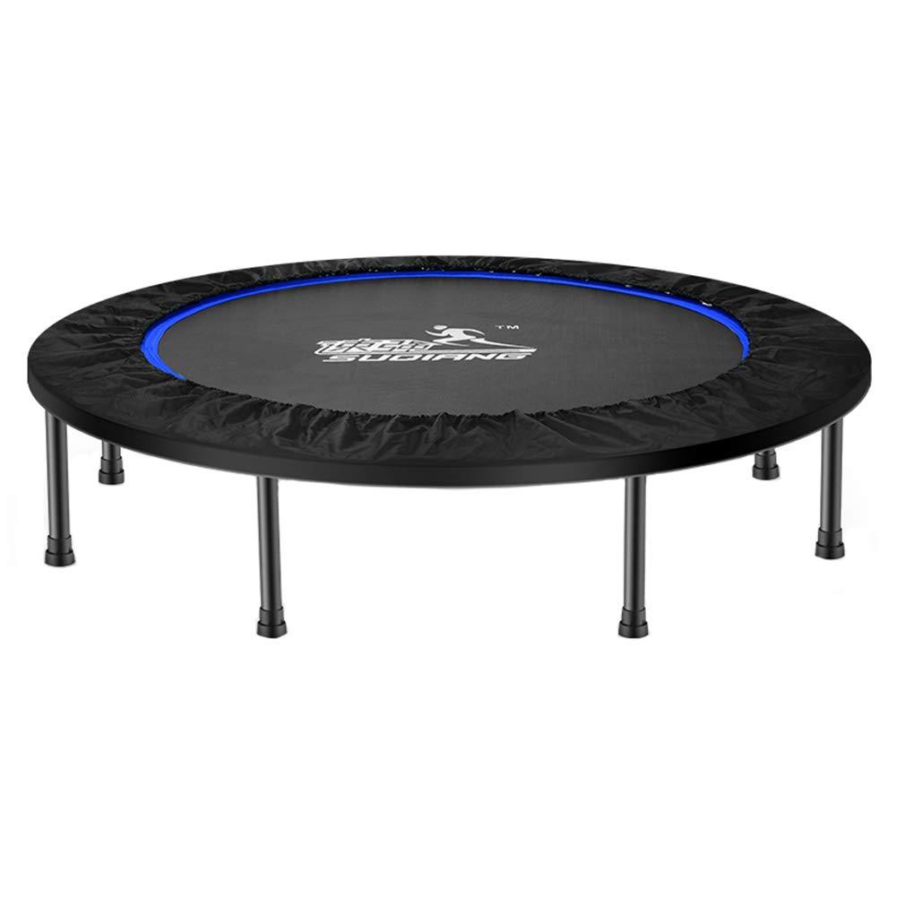 Trampolin, Tragbares und faltbares Trampolin - 45-Zoll-Rebound-Sprungmatte Sicher für Kinder - Max Load 225KG (Farbe : Blau)