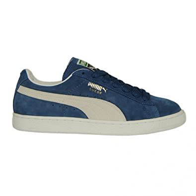 708019958f3 Puma Mens Suede Classic In Ensign Blue and White Trainer Size 10.5 UK   Amazon.co.uk  Shoes   Bags