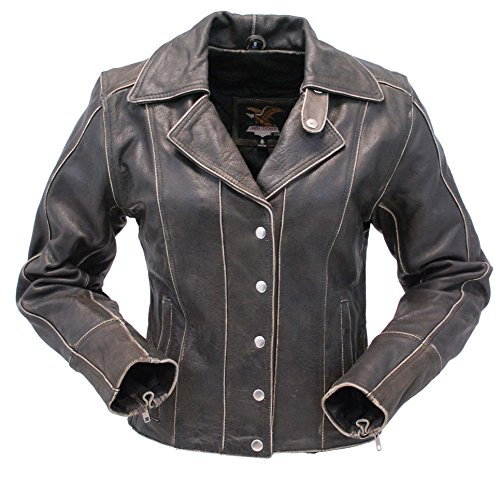 Jamin' Leather Form Flattering Vintage Leather Motorcycle...