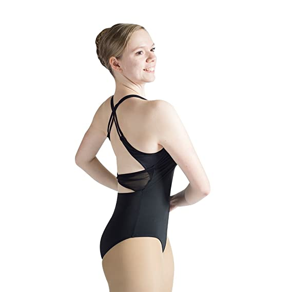 562fb16c44d9 Amazon.com  HDW DANCE Women Ballet Dance Leotard Mesh Sheer Neck ...