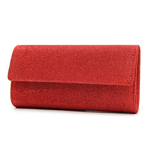 Purse Bags Milisente Clutch Sequins Evening Clutch Red Bag Women Chain Elegant Shoulder xqqT0rvS5w