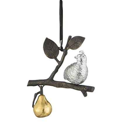 Michael Aram Partridge In A Pear Decorative Tree Ornament