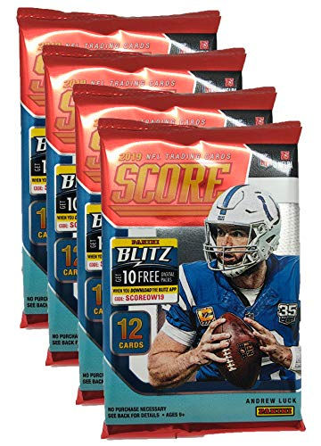 Panini 2019-2020 Score NFL Football Trading Cards Retail Factory Sealed 4 Packs from Panini