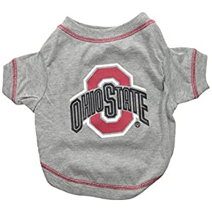 Pets First NCAA OHIO STATE BUCKEYES Dog T-Shirt, Small