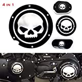 4 in 1 Skull Engine Derby Cover Timer Cover Brake Cylinder Cover Chain Inspection Cover For Harley Sportster Iron XL883 1200 48 72 Nightster Roadster ✔