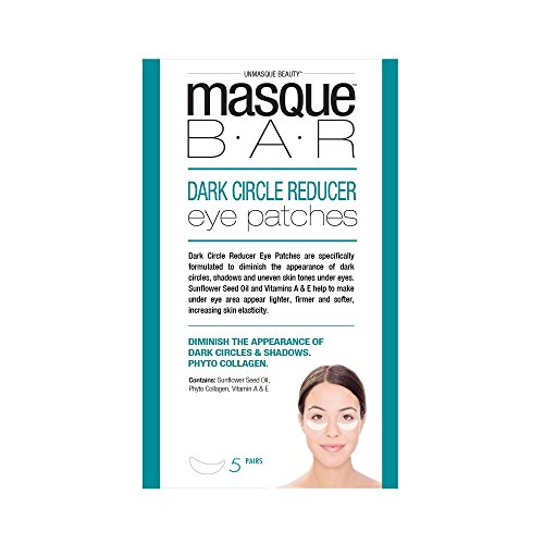 masque BAR Dark Circle Reducer Eye Patches w/Sunflower Seed Oil, Licorice Root Extract & Vitamin E - Hydrating Undereye Mask for Shadows & Uneven Skin Tone - Made in -