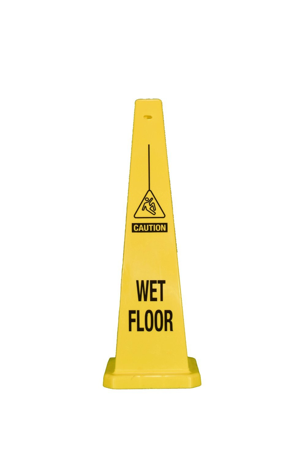 Cortina Safety Products Group 03-600-08 Cortina Safety Products 36 Yellow Traffic Floor Cone Caution Wet Floor with Pictogram, Plastic, 36'' x 36'' x 12''