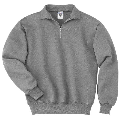 Jerzees mens 9.5 oz. 50/50 Super Sweats NuBlend Fleece Quarter-Zip Pullover(4528)-OXFORD-2XL - Jerzees Fleece Oxfords