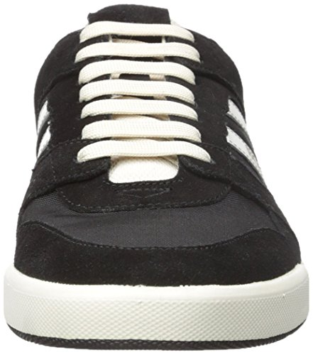 Suede Stillness Mens Black Sneaker Boss Mesh Hugo tv0UwZqv