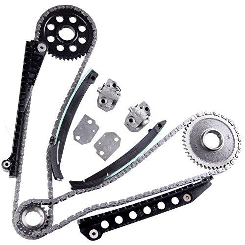 Timing Chain Kit, ECCPP for TK6054L 2002-2011 Ford E150 E250 E350 Expedition F150 F250 Lincoln ()