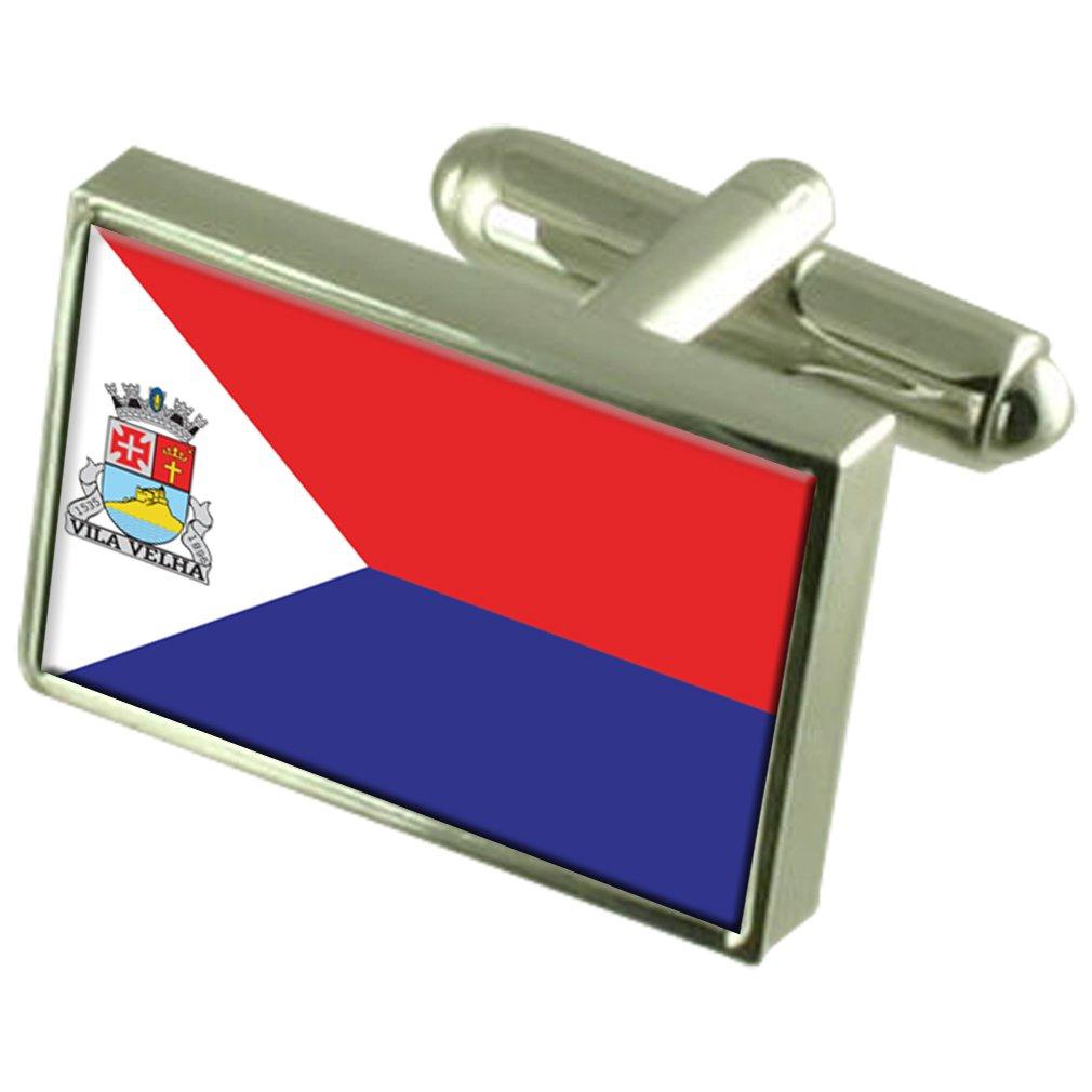 Vila Velha City Espirito Santo State Flag Cufflinks