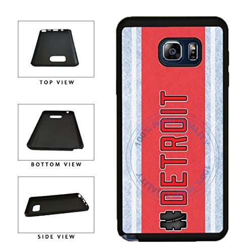 BleuReign(TM) Hockey Team Hashtag Detroit #Detroit TPU RUBBER SILICONE Phone Case Back Cover For Samsung Galaxy S8 Plus