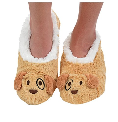 Super BROWN Snoozies femme PUP LT Doux Animal Design pour Neuf Chaussons qwTnSgag