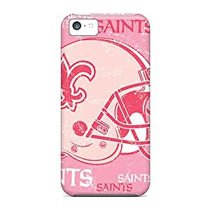 Iphone 5c OOM18027AwRq Customized Trendy New Orleans Saints Pictures Shock Absorption Cell-phone Hard Cover -MarieFrancePitre