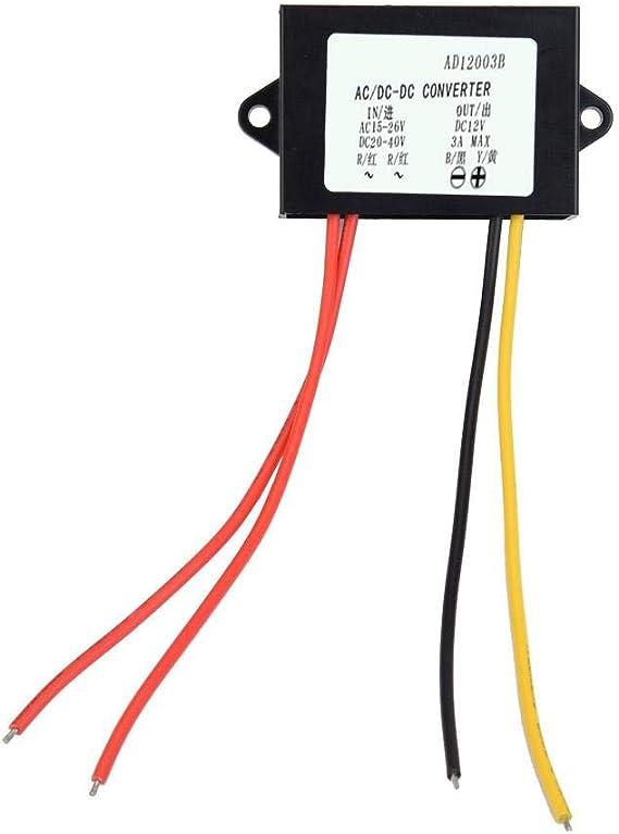 Ac Dc Buck Converter Ac 24v Bis Dc12v 3a Stromversorgungsmodul Konverter Regler Für Auto Audio Motor Step Down Modul Mit Led Anzeige Auto