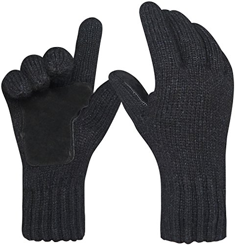 Oryer+Men%27s+Winter+Gloves+Warm+Wool+Knitted+Mittens+Cold+Weather+Gloves+for+Men