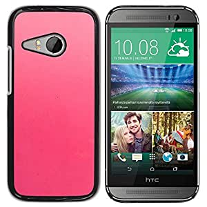 Be Good Phone Accessory // Dura Cáscara cubierta Protectora Caso Carcasa Funda de Protección para HTC ONE MINI 2 / M8 MINI // Pink Subtle Monotone Color Peach Fuchsia