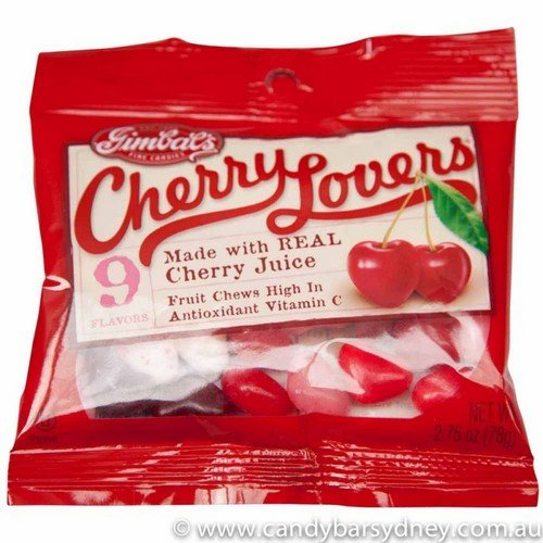 Gimbal's Cherry Lovers Candy - 9 Cherry Flavors - 2.75oz - Fresh Product