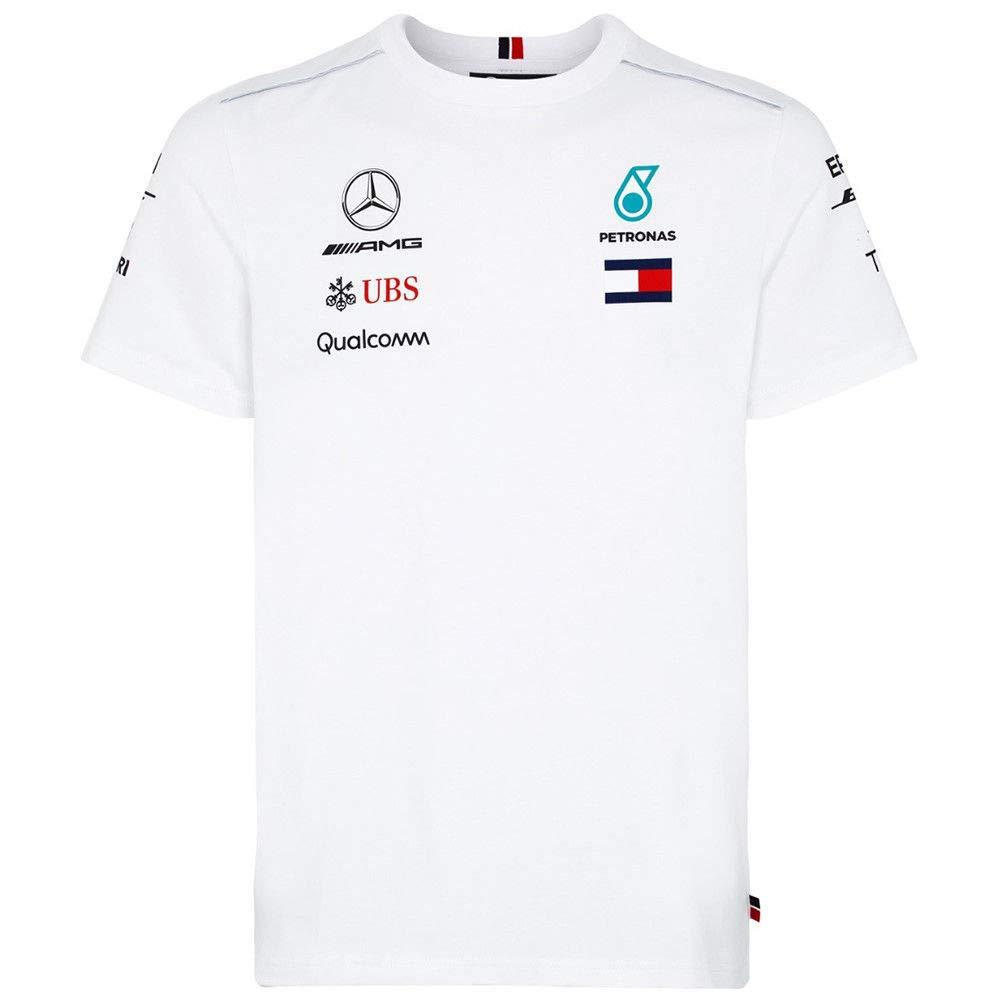 Medium Mercedes Benz AMG Formula 1 Petronas White 2018 Mens Driver Team T-Shirt