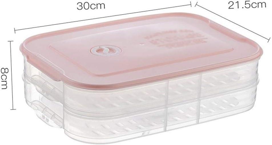 HWH Caja superior de almacenamiento de alimentos frescos, caja de almacenamiento de verduras de pan Caja de almacenamiento de cocina de refrigerador Caja multifunción con tapa Tricolor de tapa múltipl: Amazon.es: Hogar