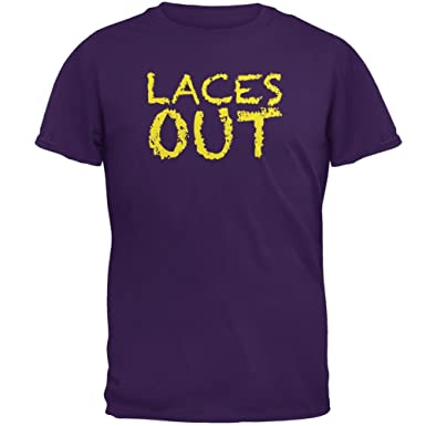 Football Kicker Laces Out Ace Purple Adult T-Shirt
