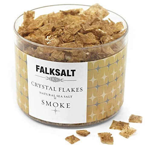 FALKSALT Smoke Sea Salt Flakes - Comparable to Maldon - Finishing Mediterranean Sea Salt Flakes for Meat, Poultry, Seafood, Pasta, Veggies, Sweets, & Cocktails [2.47oz - 5 Flavors Available] ()
