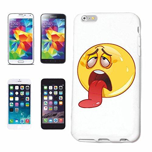 "cas de téléphone iPhone 5C ""SAD SMILEY LETS langue pendante ""sourire EMOTICON APP de SMILEYS SMILIES ANDROID IPHONE EMOTICONS IOS"" Hard Case Cover Téléphone Covers Smart Cover pour Apple iPhone en bla"