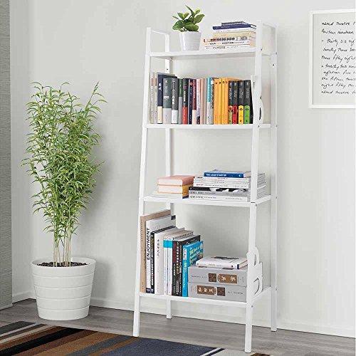 Bookshelf Storage Bookcase 4 Tier Furniture Display Multi-function Shelves Rack Iron - Melbourne Central Sale