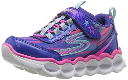 Skechers Kids Girls' S Lights-Lumos Sneaker, Blue/Multi, 5 M US Toddler