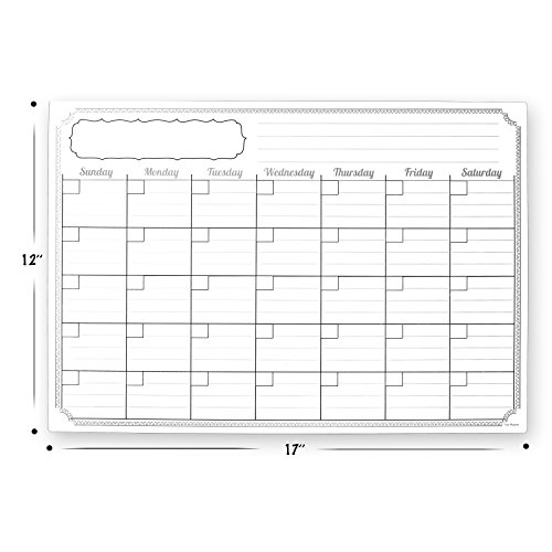 Magnetic Weekly Calendar For Refrigerator : Monthly magnetic calendar for refrigerator quot x dry