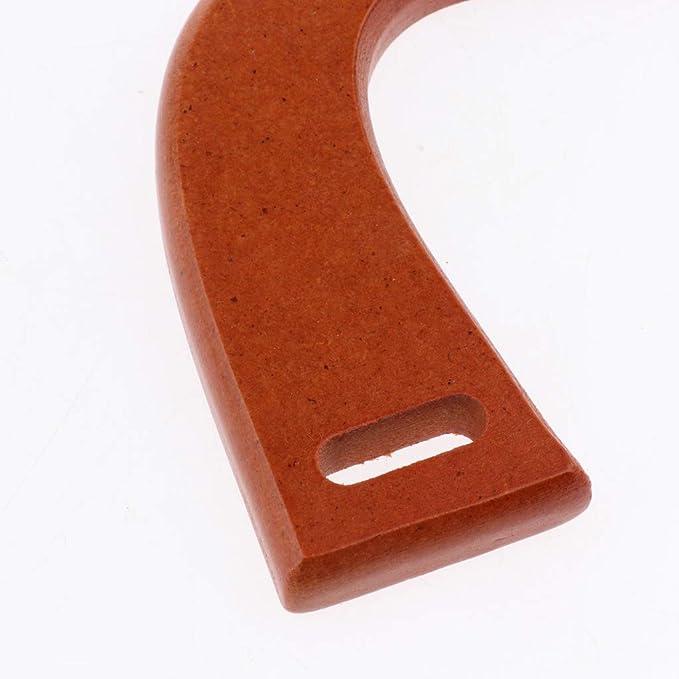 Baoblaze 1 Paar Holz Taschengriffe Taschenhenkel Taschengriff Ersatz U-Form Griffe F/ür Handgemachte Tasche Handtasche Geldb/örse