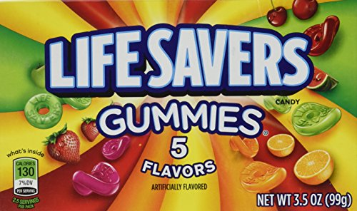 LifeSavers Gummies with 5 Flavors Theater Box by Wrigleys - 3.5 Oz / Box ()