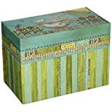 Lang Artisan Recipe Card Box with Recipe Cards, Color My World