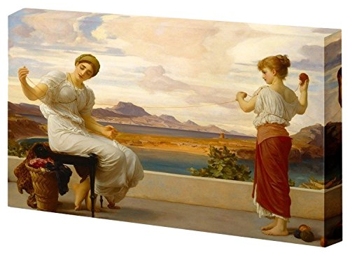 Winding The Skein by Frederic Leighton Stretched Framed 12 L X 18 W