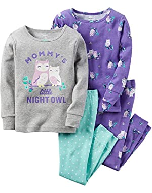 4 Piece Owl PJ Set (Toddler/Kid)