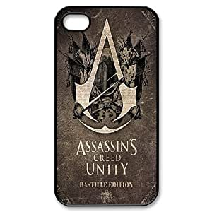 Diy Assassins Creed Phone Case, DIY Hard Back Cover Case for iPhone 4/4G/4S Assassins Creed