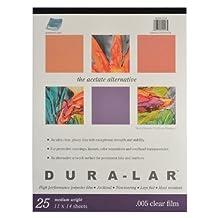 Grafix Clear .005 Dura-Lar Film, 11-Inch by 14-Inch, 25 Sheets