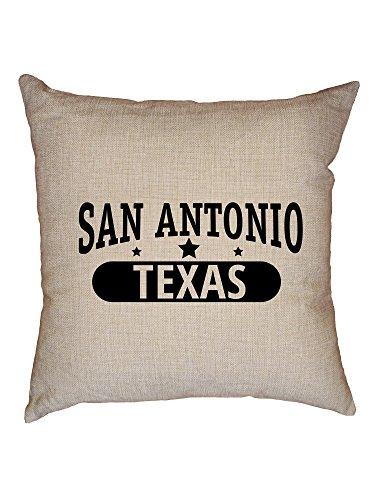 Hollywood Thread Trendy San Antonio, Texas with Stars Decorative Linen Throw Cushion Pillow Case with Insert