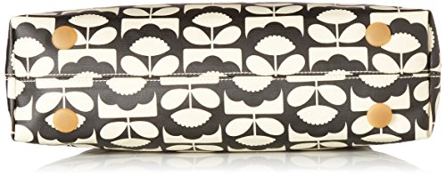 Orla Kiely Classic Zip Shoulder Bag, Borse a Tracolla Donna Black (Charcoal)