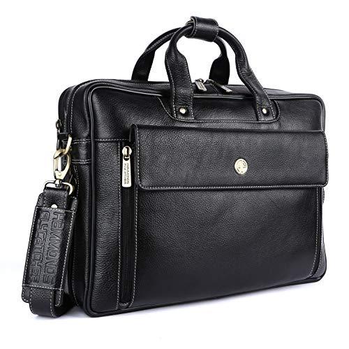 Hammonds Flycatcher Original Bombay Brown Leather 15.6 inch Expandable Laptop Messenger Bag LB150