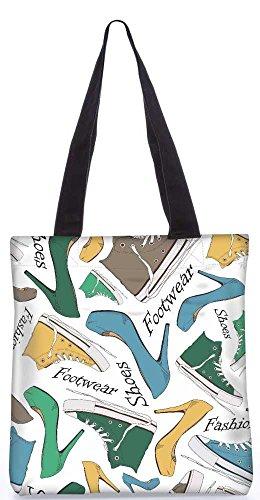 """Snoogg Schuhe Tragetasche 13,5 X 15 In """"Shopping-Dienstprogramm Tragetasche Aus Polyester Canvas"""