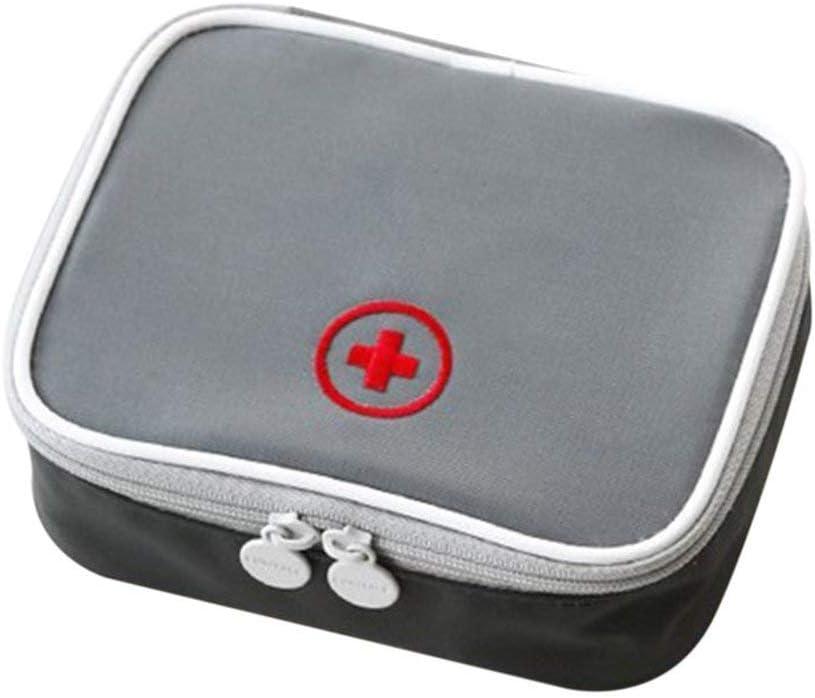 Mini Kit de Primeros Auxilios al Aire Libre Bolsa de Viaje Paquete de Medicina port/átil Kit de Emergencia Bolsas Bolsa de Almacenamiento de p/íldoras Peque/ño Organizador Paperllong/®