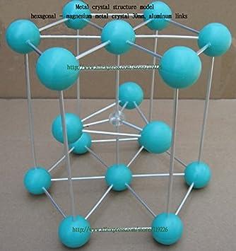 Mg metal estructura cristalina modelo - hexagonal - cristales de metal de magnesio de 30 mm de aluminio y magnesio de conexión del metal envío libre: ...
