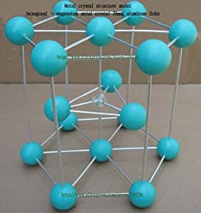 Mg metal estructura cristalina modelo - hexagonal
