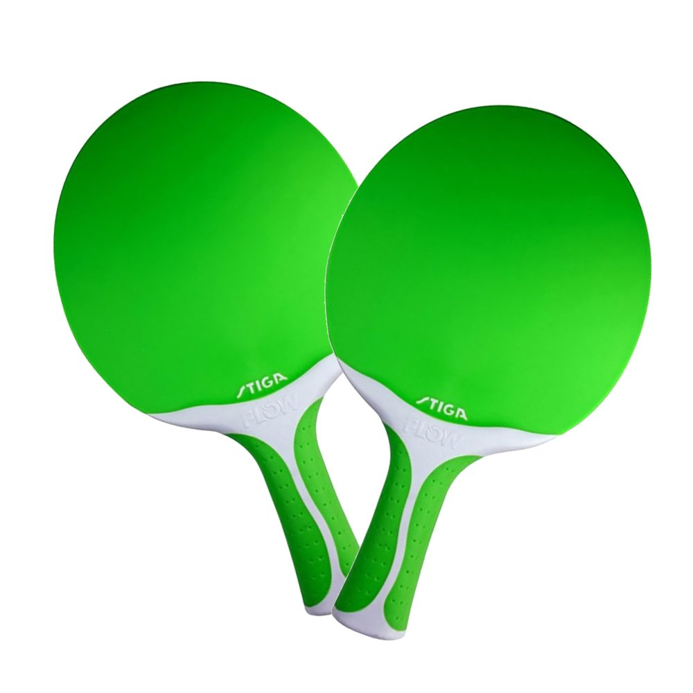 Set of 2 Stiga Flow Ping Pong Paddle - Green