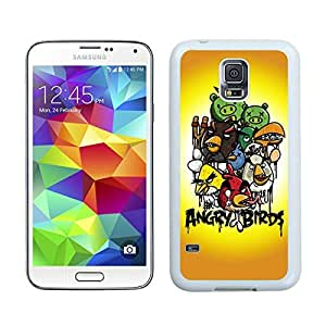 Samsung Galaxy S5 Case,2015 Hot New Fashion Stylish Angry Birds White Case Cover for Samsung Galaxy S5 i9600