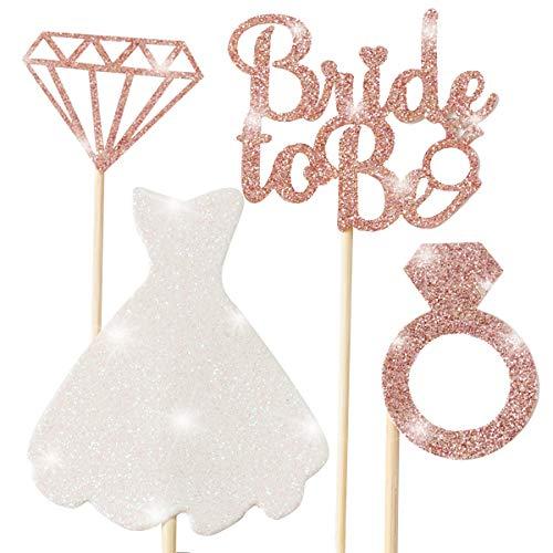 Cupcake Sparkling Glitter Engagement Bachelorette product image