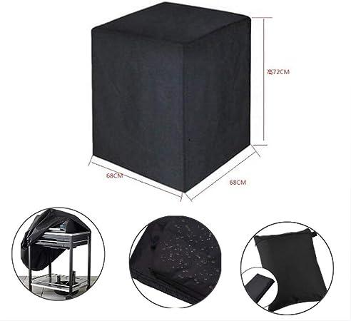 SYJYA Funda para Barbacoa Impermeable Cubierta para Barbacoa 300D Oxford 68 * 68 * 72cm Protector para Barbacoa Anti-Viento/UV/Impermeabilidad con Cuerda de Bloqueo: Amazon.es: Hogar
